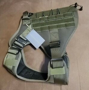 DOCIOTE Tactical Green Dog Harness Size Large NWT