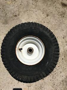 Craftsman LT1000 Riding Lawn Mower Front Wheel Rim & Tire w/ Tube 15x6.00-6