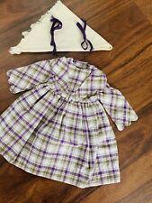 American Girl Doll Kirsten Promise Dress Plus Her Original Purple Ribbons ❤️🥰