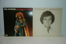 2 Neil Diamond LP Records Hot August Night/You don't bring me flowers