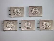 5 x NVA Koppelschloß silber für Lederkoppel Mannschaft, unbenutzt, MDI Bepo VP