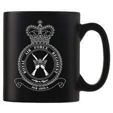Royal Air Force Regiment, RAF - Personalised Black Satin Mug