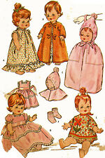 Vintage Doll Clothes PATTERN 6993 for 12 inch Baby Pebbles Tiny Chatty Baby 60s