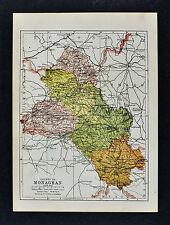 1902 Ireland Map - Monaghan County - Clones Castleblayney Glaslough Muckno Lake