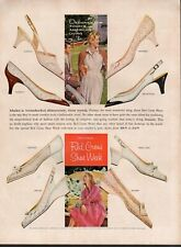 Vintage advertising print ad FASHION National Red Cross Shoe Week Styles 1960 ad