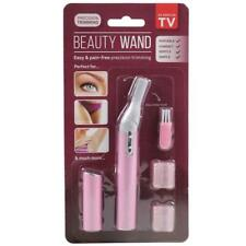 KK BEAUTY WAND HAIR REMOVAL EYEBROW DELICATE TRIMMER PINK PRECISION PORTABLE NEW