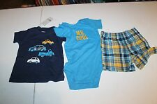 NEW NWT Boys size  12 month Carter's 3 Piece Shorts Set mr cool