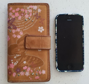 Orig Fossil Leather Checkbook Wallet