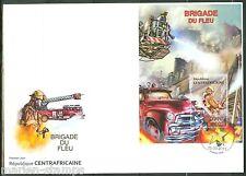 Central Africa 2013 Fire Brigade Souvenir Sheet First Day Cover