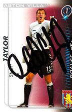 ASTON Villa F, C STUART TAYLOR main 05/06 Premiership shoot out signé carte.