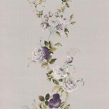 Rasch Papel Pintado 289014 Petite Fleur 4 Rosas Gris Púrpura Claro Fieltro de