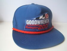 1989 Goodwrench Rockingham 200 Patch Hat Vintage Blue Snapback Cap Made USA