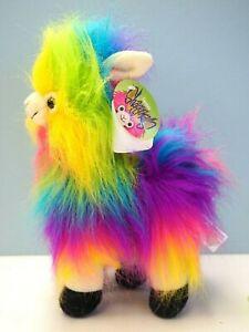 "New 11"" Fiesta Plush Shaggimals Rainbow Shaggy Llama"