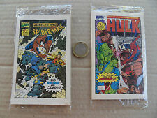 Drakes Cakes Marvel  (Flip Flop ) mini comic books 1- 4 Marvel 1993 NM - minus