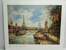 Paris Lithograph 1983 - Lutece Editions Le Pont Alexandre III Paris France