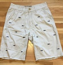 Nautica Khaki Blue Embroidered Fish Bones Shorts!  32