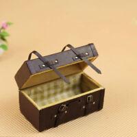 PT_ Cn _ Fm- 1:12 Casa Delle Bambole Miniatura Vintage Similpelle Valigetta Mi