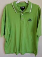Miller Chill Men's Shirt Short Sleeve Polo Green Size X-Large--EUC!