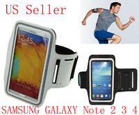 Adjustable Workout Sport GYM Armband Case for Samsung Galaxy Note 4 Note 3