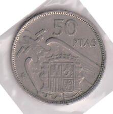 (H88-53) 1951 Spain 50 PTAS Coin (AB)