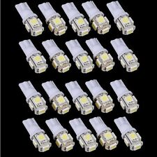 20x T10 5050 W5W 5 SMD 194 168 LED White Car Side Wedge Tail Light Lamp Bulb 12V