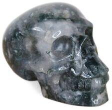 Tête de Mort Cristal Crâne Tête Mousse Agate Tête de Mort Asienlifestyle