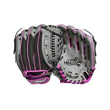 Women's Wilson 2019 Flash 11in Fastpitch Glove Black/Grey/Purple