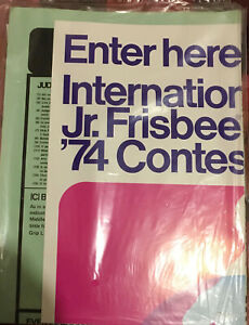 """VTG WHAM-O """"74 INTER. JR FRISBEE CONTEST AND NATIONAL HULA HOOP CONTEST POSTERS"""