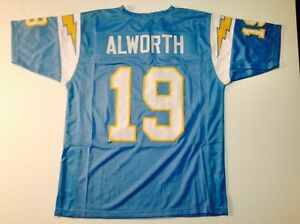 UNSIGNED CUSTOM Sewn Stitched Lance Alworth Powder Blue Jersey - M, L, XL, 2XL