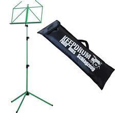 K&M 100/1 Notenständer Notenpult Grün mit Keepdrum Tasche Bag
