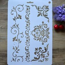 Coffee Baking Tool Fondant Duster Spray Layering Stencil Template Cake Decor