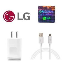 ORIGINAL OEM LG WALL HOME CHARGER + MICRO USB CABLE FOR LG STYLO 2 PLUS G4 G3