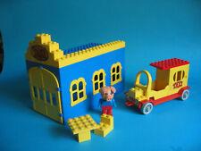 Lego Fabuland 338 Taxi Station mit Figur Percy Pig und Taxi Auto