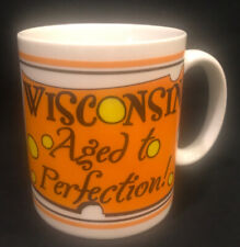 Coffee Tea Mug Cup Holds 12 oz. Wisconsin Aged to Perfection Mouse Swiss Cheese