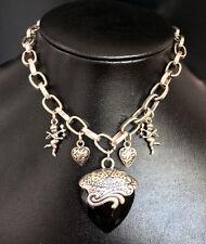 Modeschmuck-Halsketten & -Anhänger aus Metall-Legierung mit Herz-Glück