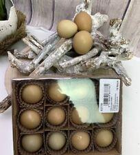 Fasan Eier Natur braun ausgeblasen 12 Stück ca.4-5cm Osterdeko Osternest NEU