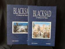 Blacksad à l'Abbaye de l'Epau, portfolio 399ex n° & s Guarnido & Canales +2 ill.