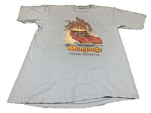 VINTAGE Tom The Mongoose McEwen Coors Corvette Vintage T Shirt XL Light Blue