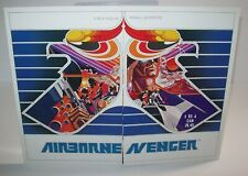 Airborne Avenger Pinball FLYER Atari Original 1977 Space Age Game Fantasy Art
