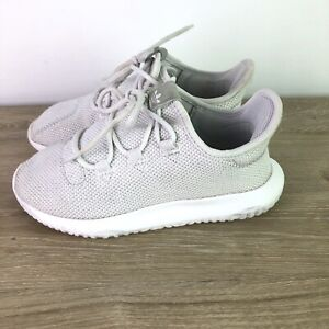 Adidas Tubular Originals Youth Girls Size 2 Knit Lace Up Sneaker Shoes