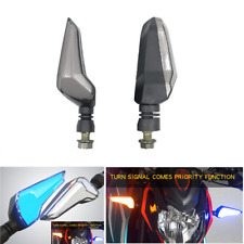 2x Universal Motorcycle Turn Signals Driving Running Light Dual Color Waterproof