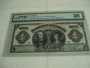 1911 BANK OF CANADA / $1 DOLLAR BANK NOTE - PMG VERY-FINE 30