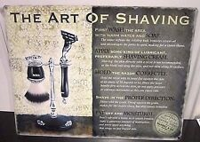 "THE ART OF SHAVING 16""X 12"" METAL SIGN 40X30cm BARBER SHOP/HAIRDRESSING SALON"