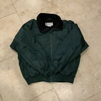 Mens Large Columbia WM5020 Fleece Lined Winter Coat Jacket Dark Green