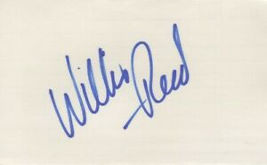 Willis Reed - NBA All-Star, Basketball Hall of Fame - Autographed 3x5 Card