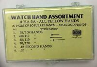New Assortment of Watch Hands in Yellow (Gilt) Color - Free Shipping!