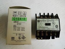 TOSHIBA C12A-E 2NC MAGNETIC CONTACTOR 15A 240V 120V COIL NEW CONDITION IN BOX