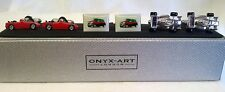 TRIPLE CUFFLINK SET - MOTORING - RED SPORTS CAR, RED MINI & RACING CAR - SET 003