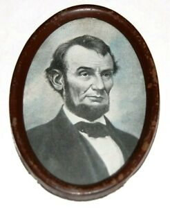 late 1800's vintage ABRAHAM LINCOLN Framed Oval Photo photograph abe portrait