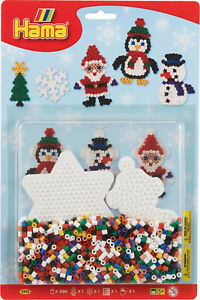 Hama Christmas Blister Sets - 1100 Beads, Pegboard, Ironing Paper